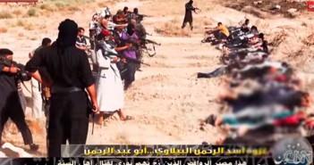 IS-Kämpfer richten Mitglieder der irakischen Armee hin. / Bild: Screenshot YouTube