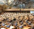 Plenarsaal des schottischen Parlamentes. / Bild: Wikimedia; CC BY-SA 3.0