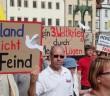 Demonstration in Wittenberg.