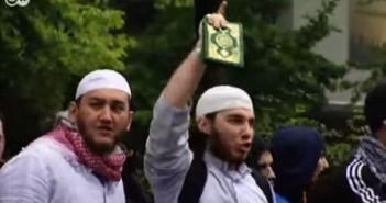 Salafistische Demonstration in Deutschland. / Bild: Screenshot YouTube