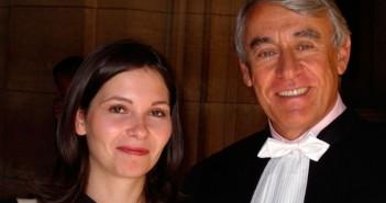Unser Referent mit einer Anwaltskollegin. Foto: claudegoasguen.typepad.com
