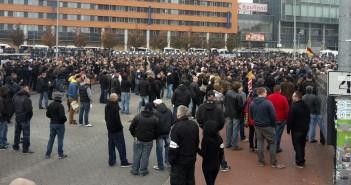 HoGeSa-Demonstration in Hannover. / Bild: Melanie Dittmer