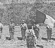 women in the algerian War of Independence with the flag