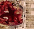 Links: riesiger Fäkalsee in texanischer Rinderzucht. Rechts: Parzelen für die Tiere. Foto: Google maps.
