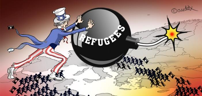 Karikatur von Flüchtlingen | Bild: audax 2015