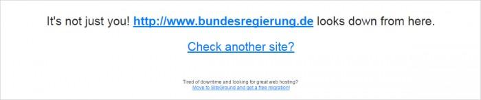 Online-Prüfung um 20.18 Uhr, www.isup.me/http://www.bundesregierung.de