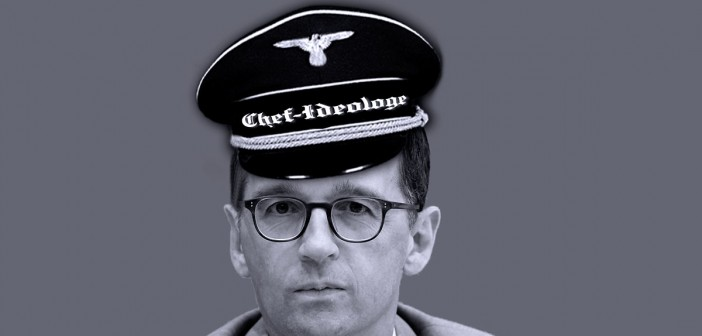 Bundesjustizminister Heiko Maas als Chefideologe, Foto-Collage: Anonymous, Facebook