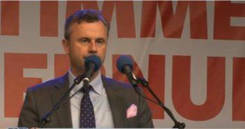 Norbert Hofer hält seine - von der ARD verfälschte - Rede (Screenshot youtube,FPÖ TV)