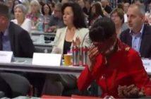 Sahra Wagenknecht nach dem Attentat (Screenshot youtube)