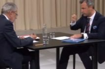 Alexander van der Bellen und Norbert Hofer im TV-Duell (Screenshot youtube)