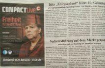 Zeitungsausschnitt: COMAPCT-Anzeige im Kurier auf Seite 6 vom 11.06.2016