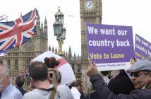 """""""Wir wollen unser Land zurück"""" brexit-Demo in London (picture alliance / NurPhoto)"""