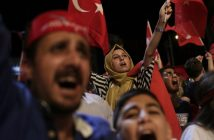 Jubelnde Erdogan-Anhänger. picture alliance / AP Photo