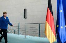 Merkel bei der Pressekonferenz zum Münchener Attentat. picture alliance/ZUMA Press