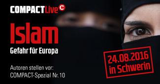 """COMPACT-Live: 24.08.16, Schwerin: """"Islam – Gefahr für Europa"""""""