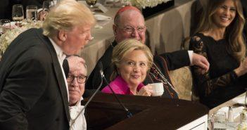 Trump spricht beim Al Smith Memorial Dinner, New York. picture alliance / newscom