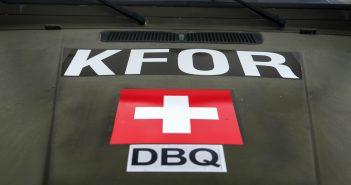 Die Schweiz mischt bei der Kosovo-Force (KFOR) auch weiterhin mit. (c) picture alliance/KEYSTONE