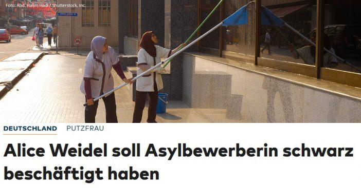 Alice Weidel Skandal Putzfrau