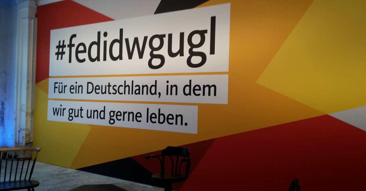 Das Wahlkampfhaus der CDU.