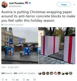 weihnachtsmarkt Merkellego Betonstopper Terror Geschenkpapier