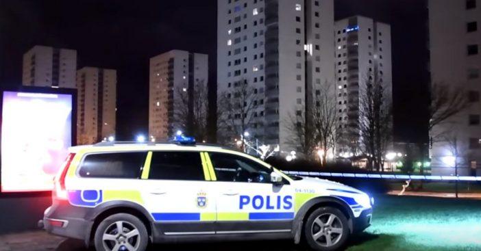 Polizeiauto Nacht Malmö