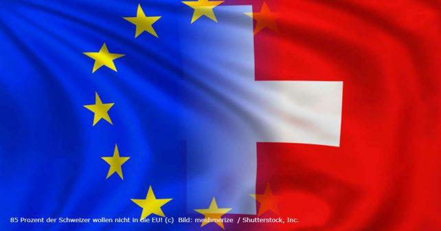 EU-Fahne, Schweizer Fahne