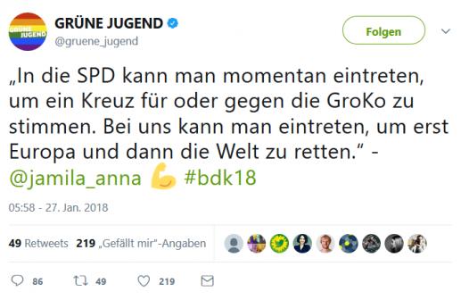 Grüne Jugend Twitter