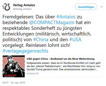 antaios China Twitter