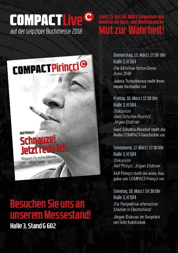 Compact auf der Buchmesse 2018 in Leipzig
