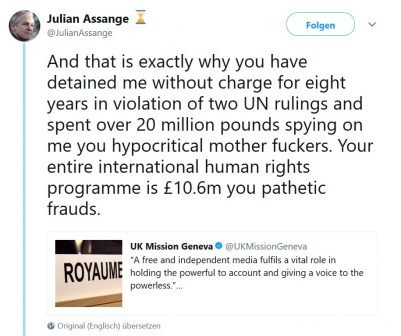 assange twitter