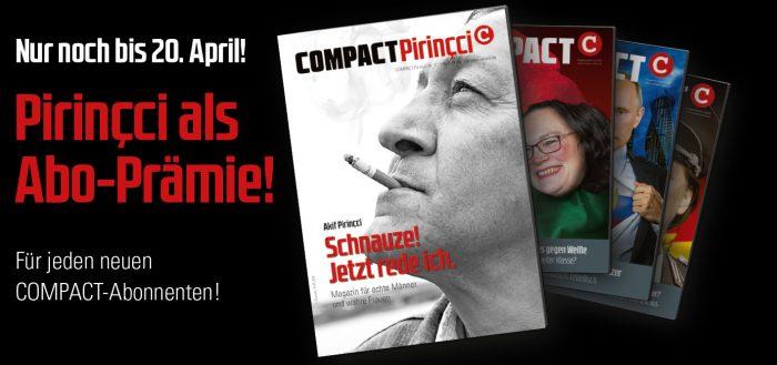 COMPACT-Pirinçci 01 als Aboprämie bis zum 20.04.2018