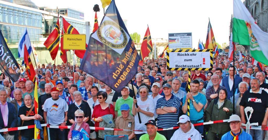 Pegida, 7.5.2018: 4000 waren begeistert. Foto: Masson