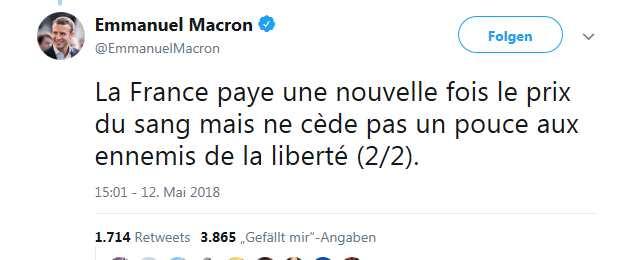 macron- twitter