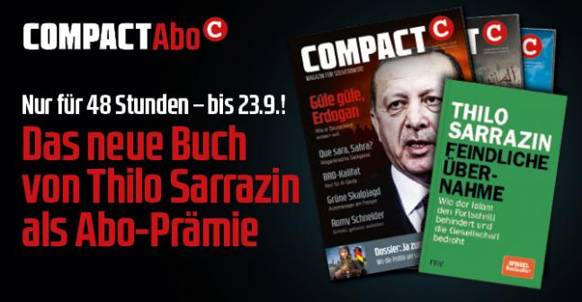 Hass-Medien, COMPACT-Magazin Oktober 2018 mit Prämie Sarrazin