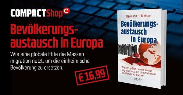 """Hermann H. Mitterer: """"Bevölkerungsaustausch in Europa"""""""