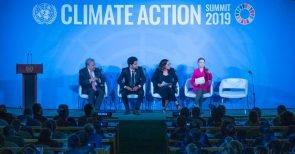 Podium der UNO-Klimakonferenz 2019