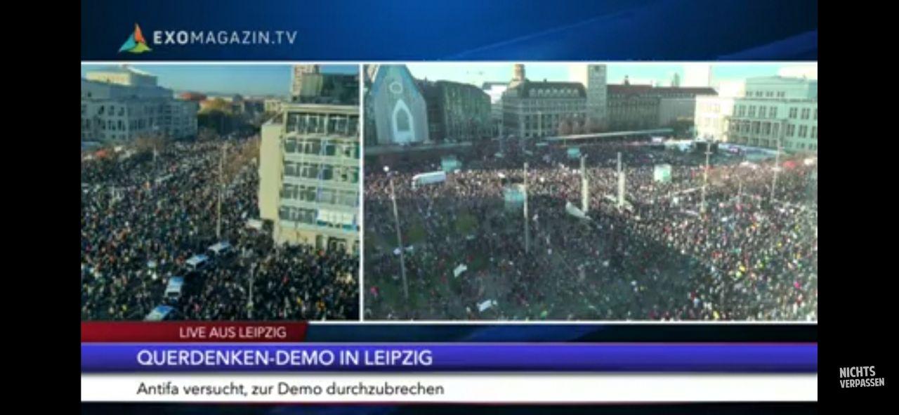 Leipzig steht auf – wie 1989! Querdenken-Demo ein Riesenerfolg! (plus Updates zur Demo)
